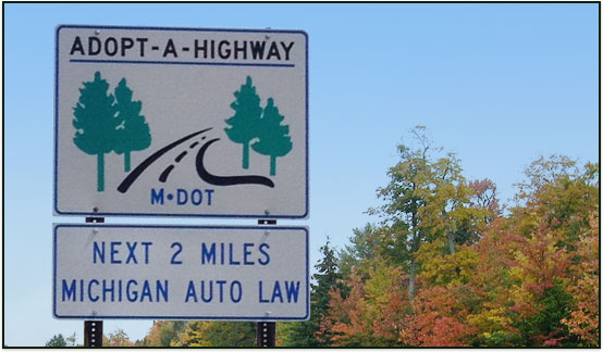 Michigan Auto Law Adopt a Highway