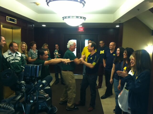 Michigan Auto Law um msu rivarly for charity 2