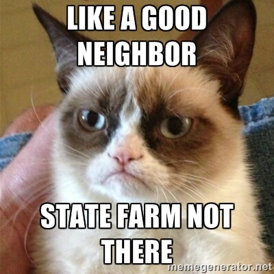 State Farm not a good neighbor