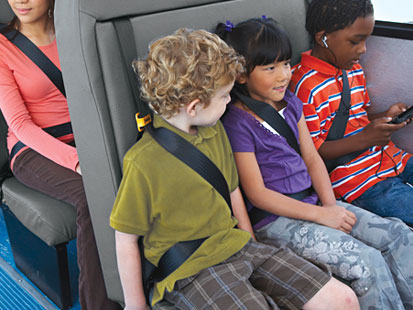 School bus seat belts