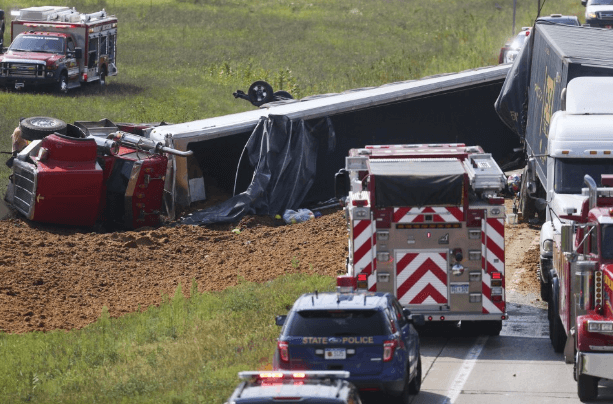 texting truck accident Paw Paw MI, image