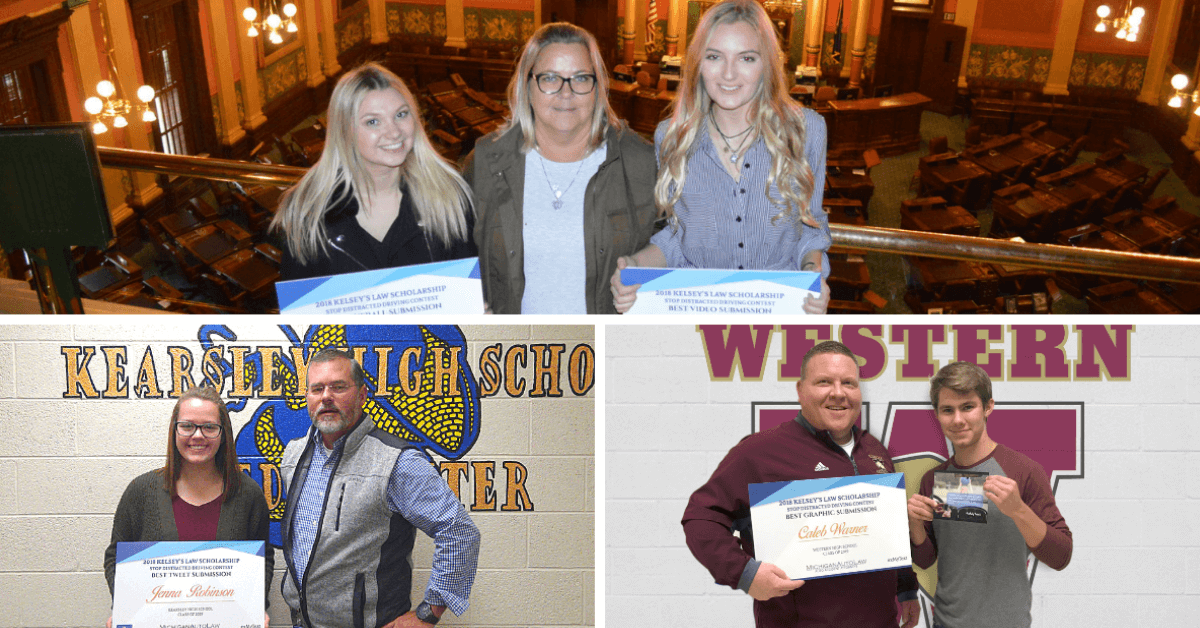 2018 Kelsey's Law Distracted Driving Awareness Scholarship winners