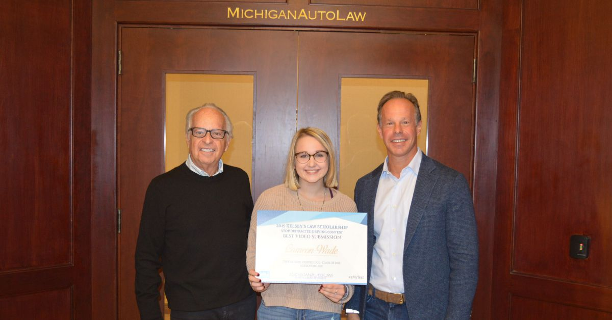 Best Video Winner Cameon Wade - Kelsey's Law Distracted Driving Awareness Scholarship for 2019