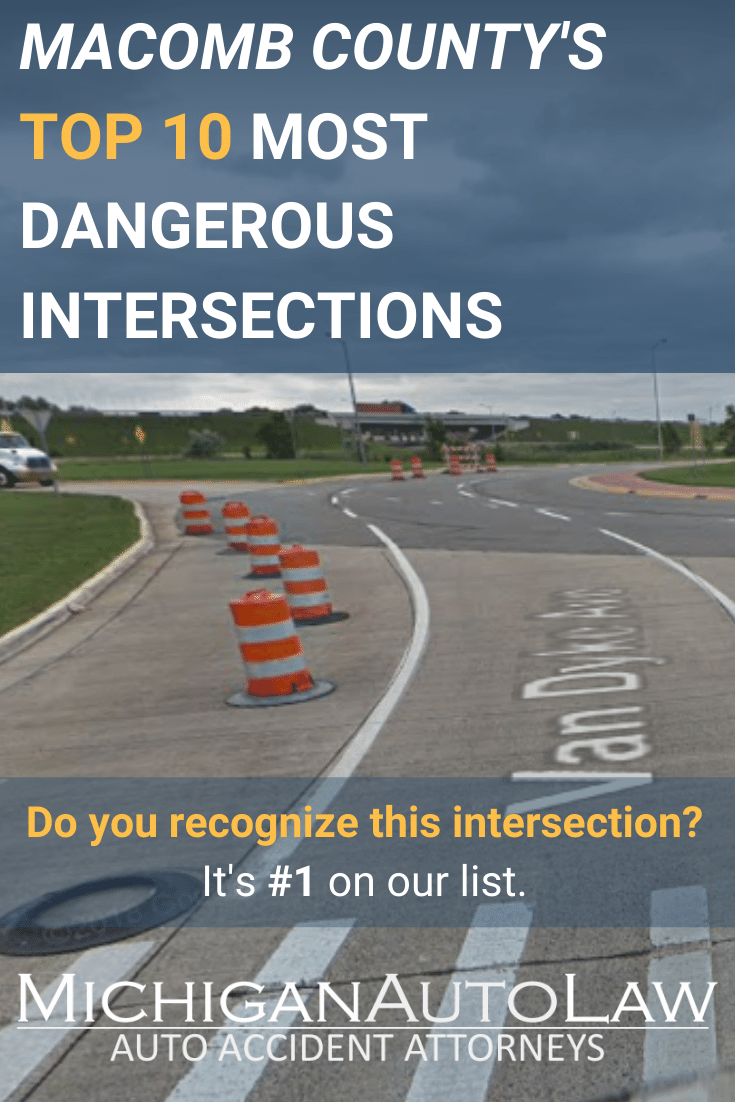 Macomb County's Most Dangerous Intersections in 2020