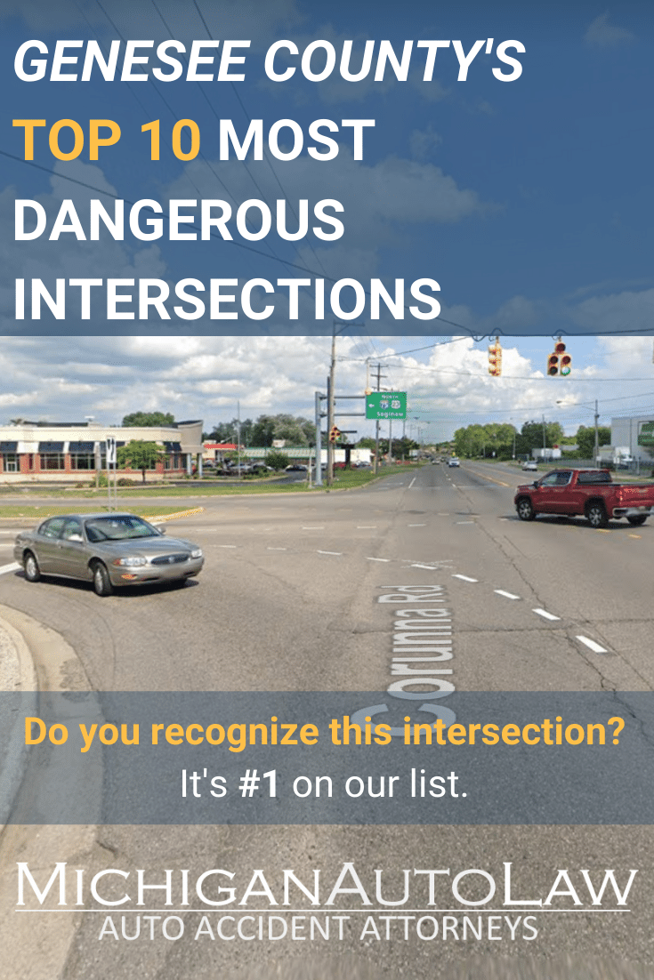 Genesee County's Most Dangerous Intersections in 2020