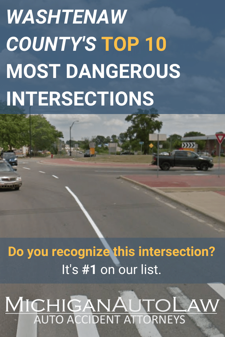 Washtenaw County's Most Dangerous Intersections in 2020